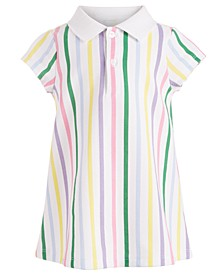 Baby Girls Striped Polo Dress, Created for Macy's