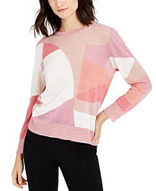 Colorblocked Striped-Trim Sweater