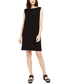 Eileen Fisher Organic Cotton Bateau-Neck Shift Dress