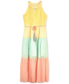 Big Girls Colorblocked Lace Maxi Dress