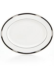 Lenox Dinnerware, Hancock Platinum White Oval Platter