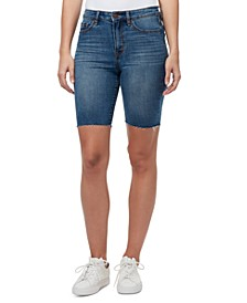 Denim Bermuda Biker Shorts