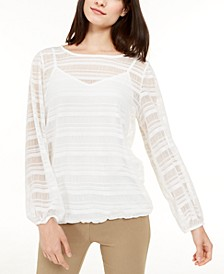Sheer Striped Top, Created for Macy's
