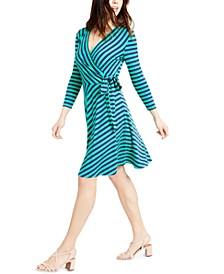 Striped Wrap Dress, Created For Macy's