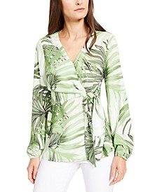 Printed Wrap Top, Created for Macy's
