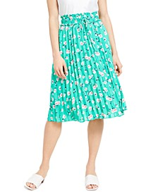 Floral-Print Pleated Midi Skirt, Created For Macy's
