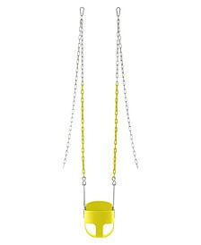 Full Bucket toddler Baby Swing with Vinyl Coated Chain