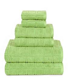 American Dawn Jackson Modern Textured 6 Piece Towel Set