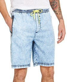 INC Men's Blue Drawstring Denim Shorts, Created for Macy's