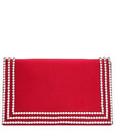 Avalyn Crystal Embellished Border Clutch