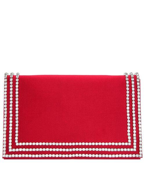 Nina Avalyn Crystal Embellished Border Clutch
