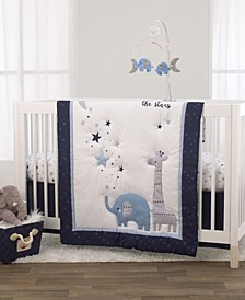 Safari Moon and Stars 3-Piece Crib Bedding Set