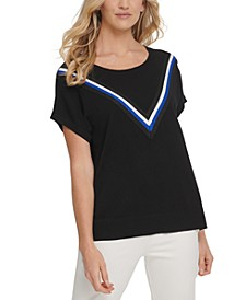 Metallic Tri-Stripe T-Shirt
