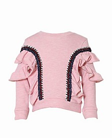 Toddler, Little, and Big Girls Ruffle Pullover