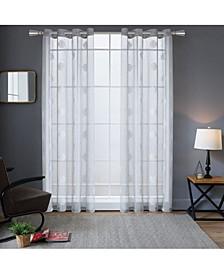"Harper Embroidery Sheer Curtain, 84"" L x 54"" W"