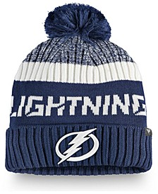 Tampa Bay Lightning Authentic Pro Rinkside Goalie Pom Knit Hat