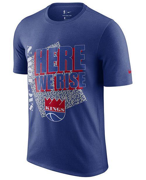 Nike Men's Sacramento Kings Hardwood Classic Slogan T-Shirt