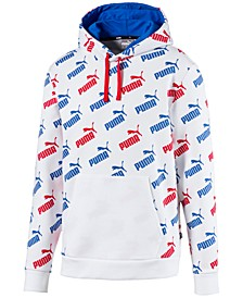 Men's Amplified Logo-Print Hoodie