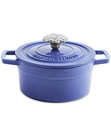 CLOSEOUT! Garden Party 2-Qt. Enameled Cast Iron Round Dutch Oven with Flower Finial, Created for Macy's