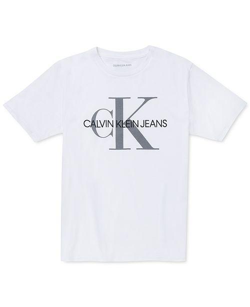 Calvin Klein Big Boys Old School Logo T-Shirt