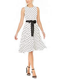 Polka Dot Fit & Flare Dress