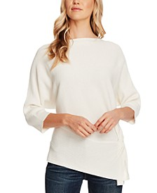 Dolman-Sleeve Rib-Knit Sweater