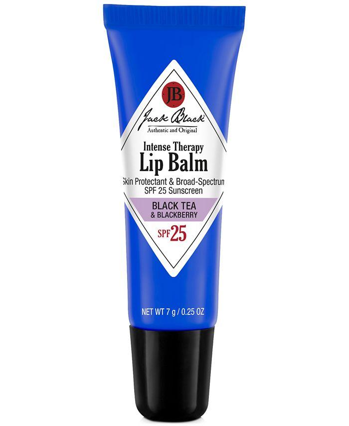 Jack Black - Intense Therapy Lip Balm SPF 25 with Black Tea & Blackberry, 0.25 oz
