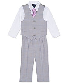 Baby Boys 4-Pc. Windowpane Vest Set