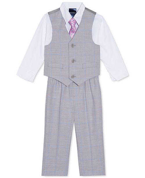 Nautica Baby Boys 4-Pc. Windowpane Vest Set