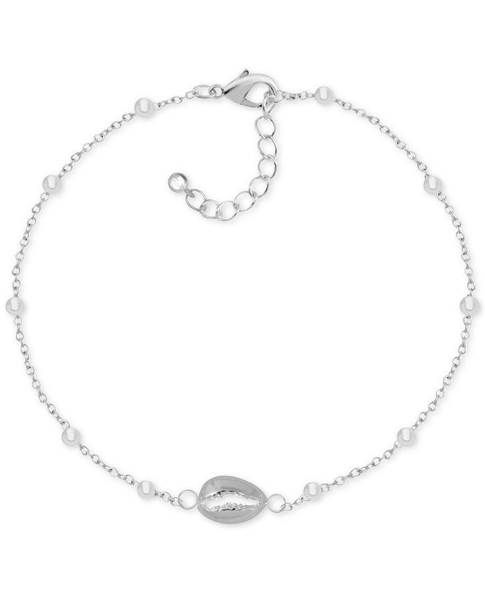 Kona Bay - Puka Shell Ankle Bracelet in Fine Silver-Plate