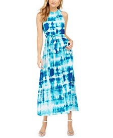Tie-Dye Sleeveless Maxi Dress