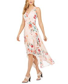 Floral-Print High-Low Dress