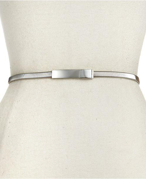 INC International Concepts I.N.C. Cobra Stretch Chain Belt, Created for Macy's