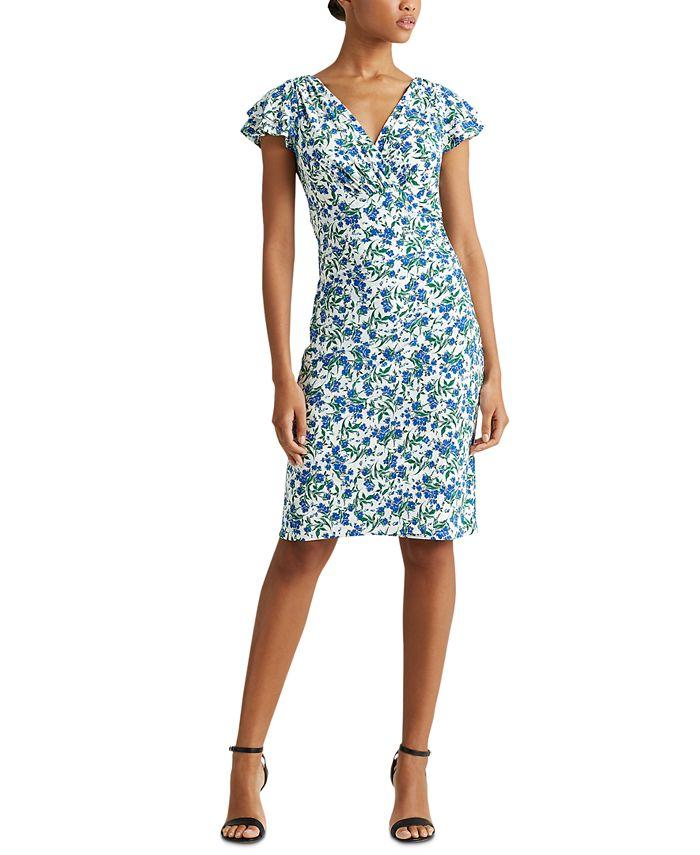 Lauren Ralph Lauren - Jersey Flutter-Sleeve Dress