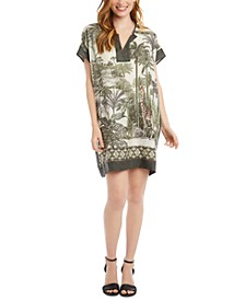 Safari-Print Tunic Dress