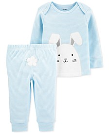 Baby Boys 2-Pc. Cotton Bunny T-Shirt & Pants Set