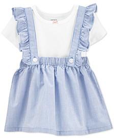 Baby Girls 2-Pc. Cotton Bodysuit & Skirtall Set