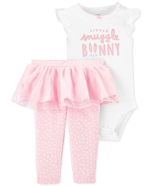 Carter's Baby Girls 2-Pc. Bunny Bodysuit & Tutu Pants Set