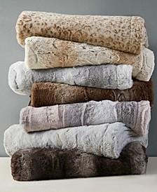 Zuri Reversible Faux-Fur Throw