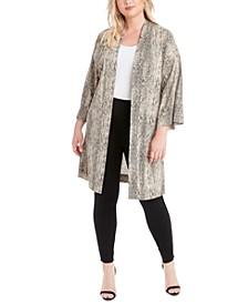 Trendy Plus Size Bea Printed Kimono