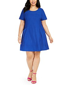 Plus Size Knit Pocket Dress