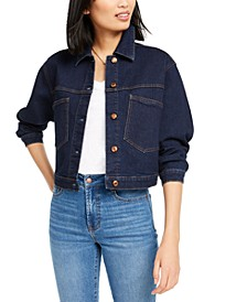 Button-Vent Denim Jacket