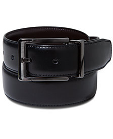 Perry Ellis Portfolio Men's Leather Dress Reversible Belt