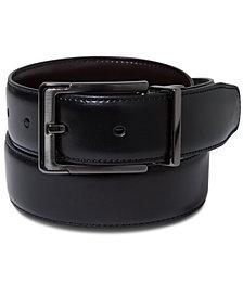 Perry Ellis Portfolio Men's Leather Dress Reversible Belt