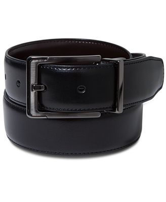 perry ellis s leather dress reversible belt