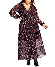 Trendy Plus Size Perfect Posy Wrap Maxi Dress