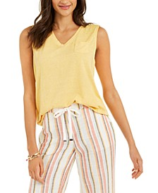Chest-Pocket Burnout Top, Created for Macy's