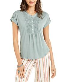 Crochet-Bib Textured Top, Created for Macy's