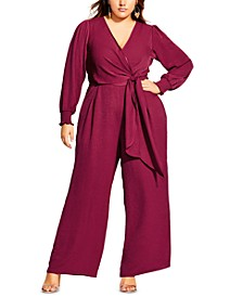 Trendy Plus Size Synthesis Jumpsuit