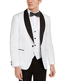 Men's Slim-Fit White Medallion Tuxedo Jacket, Created for Macy's